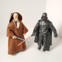"2 Vtg 1996 Star Wars Kenner 12"" Collector Series Obi-Wan Kenobi & Darth Vader"