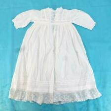 ea9df41a8 Antique 1920s Baby/Childs White Cotton and Lace Christening Gown Dress,  20-in