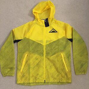 **BRAND NEW** Men NIKE WindRunner Trail Running Jacket Yellow/Black Sz Medium