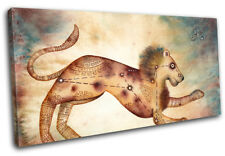Zodiac Leo  Starsign SINGLE DOEK WALL ART foto afdrukken