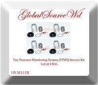 4 Kits TPMS Sensor Service Kit Fits: GM Chrysler Dodge Mitsubishi Jeep Nissan &