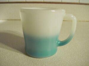 Vintage Fire King Delphite Blue and White D Handle Coffee Mug