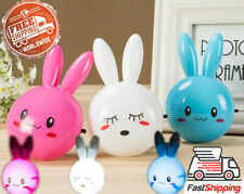 LED Night Light Wall Night Lamp With Cartoon Rabbit Kid Bedroom Bedside Lamp