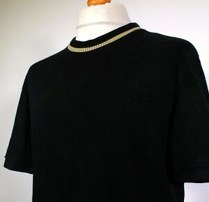 """Fred Perry REISSUES Pique T-Shirt (XL/44"""" - Black) 60's Mod Casuals Scooter Rare"""