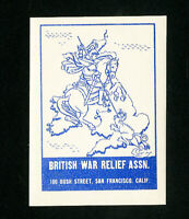 Great Britain Stamps NH War Relief Label