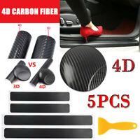 1PC 4D Carbon Fiber Car Rear Bumper Trunk Sticker Panel Protector Accessories