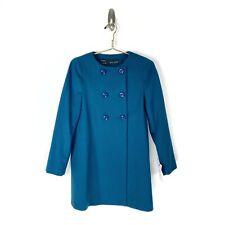 ZARA NWT Teal Wool Cashmere Blend Coat Size Medium