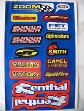 Motocross Decals Sticker Kit Yamaha Kawasaki Honda Suzuki Dr Drz Xt Xr Wr Wrf Tt