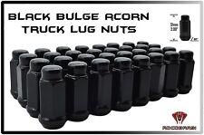 "32 PC CHEVY 2500 3500 14X1.5 BLACK GLOSS BULGE ACORN LUG NUTS XL TALL 2"" ACORN"