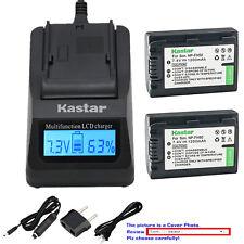 Kastar Battery LCD Fast Charger for Sony NPFH50 DCR-DVD705 DCR-DVD708 DCR-DVD710