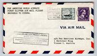 Belgium 1946 PanAm FFC Brussels to Vienna - Z13033
