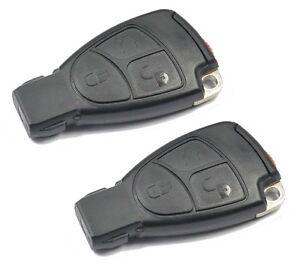 2x Schlüsselgehäuse 3 Tasten Gehäuse für Mercedes Benz A B C CLK Klasse MB #17