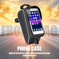 Waterproof Wheel Bike Front Top Frame Pannier Tube Bag Touchscreen Phone Pouch