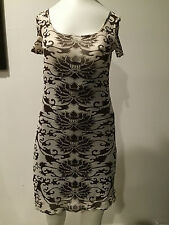 VIVIENNE TAM Dress Abstract Lotus Flower Chic Colours , Size 0!!! FARNASS
