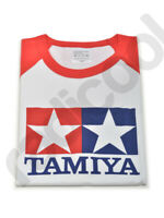 66730 New Official Tamiya Logo Printed Short Sleeve T-Shirt Red White Size Large