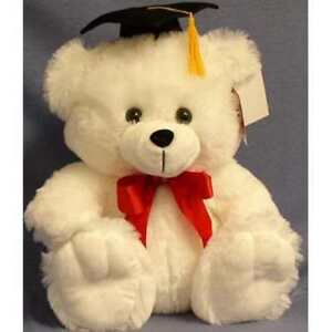 "12.5"" Graduation Teddy Bear Panda & 13"" White Big Feet with Diploma and Grad Cap"