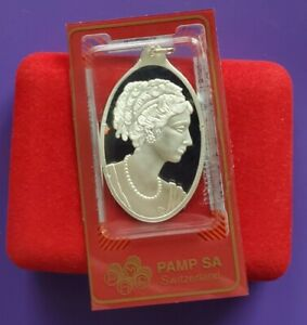 Rare - PAMP Suisse Lady Fortuna 1/2oz .999 Fine Silver Bar Pendant in Assay