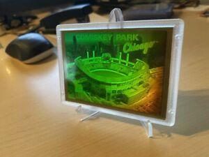 1994 Blockbuster Video Comiskey Park Chicago 3D Laser Hologram Baseball Card