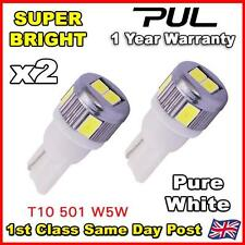 2x ERROR FREE CANBUS 6 SMD LED PURE HID WHITE W5W T10 501 SIDE LIGHT BULBS