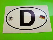 "D for DEUTSCHLAND GERMAN Van Car Bumper Sticker Decal 1 off 6"" or 150mm"