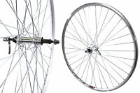 PAIR 700c (622 x 13) ROAD BIKE RACER WHEELS SILVER ALLOY QR HUBS 50% OFF