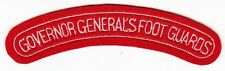 GOVERNOR GENERALS FOOT GUARDS - Vintage CANADIAN ARMY SHOULDER TAB PATCH TITLE