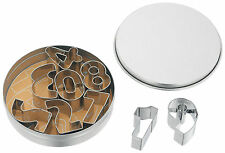JUDGE Metal Number Shape Cookie/Biscuit/Icing Cutters Nine In Tin.Birthday Cakes