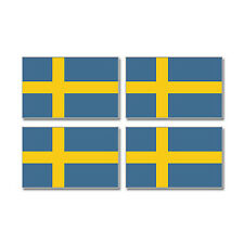 Sweden Swedish Country Flag - Sheet of 4 - Window Bumper Stickers