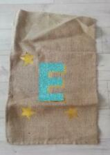 CATERINE COLEBROOK CHRISTMAS STOCKING SACK Large letter E Glitter new no tag