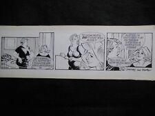 ORIGINAL ARTWORK; George & Lynne Cartoon (Sun Newspaper) Conrad/Gual - New Dress
