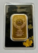 1 OZ GOLD BAR - ROYAL CANADIAN MINT (OLD STYLE, SEALED IN ASSAY CARD) #339565