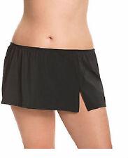 Black~28W~4X~Lane Bryant Plus Size Short Slitted Swim Skirt Swimsuit Bottom NEW!