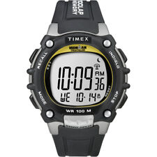 Timex Ironman Traditional 100-Lap Black/Silver/Yellow Watch T5E231