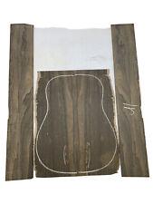 Figured Dreadnought Ziricote Guitar Back & Side Set Luthier Tonewood Book Match