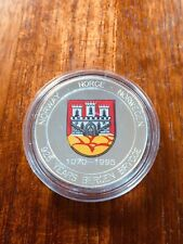 More details for 1994 norway 20 ecu sterling silver proof coin 925 years of bergen brygge. rare!