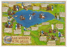 Galilee Lake Sea POSTCARD Christian Holy Land Miracles Teachings of Jesus Christ