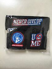 WWE John Cena U CAN'T C ME Wristbands Never Give Up Headband Set.AUTHENTIC Black