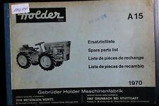 Holder Schlepper A 15  Ersatzteilliste