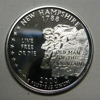 2000-S New Hampshire Gem DCAM Silver Proof State Quarter Stunning Coin