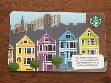 New MINT Starbucks Card 2011 2012 San Francisco Painted Ladies Limited Edition