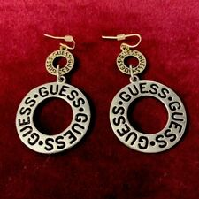 guess earrings silver & Gold Tone