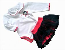 BNWT Baby Toddler Girls Outfit Set TuTu Skirt & Bodysut 3-6 Months