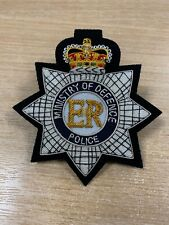 More details for mod police embroidered blazer badge handmade with bullion and wire blazer badges