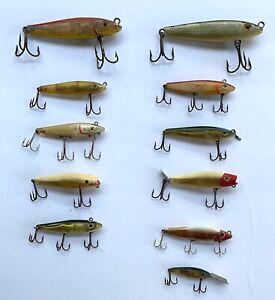 Lot of 11 Vintage MirrOlure Freshwater / Saltwater Fishing Lures