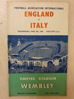 1959 ENGLAND v ITALY - FRIENDLY INTERNATIONAL @ WEMBLEY 6th May