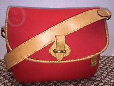 *Vintage Dooney & Bourke*RED*C328 Safari Shoulder Bag/Purse/Handbag 16255G
