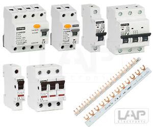 Leitungsschutzschalter FI-Schalter Hauptschalter Sicherungsautomat 10A - 63 A