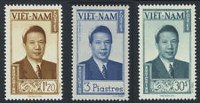 State of Vietnam 1951, The Last Emperor of VN: Bao Dai, 7-9-13 MNH ORG / Dry Gum