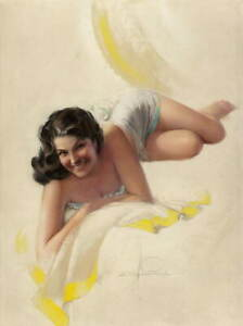 Rolf Armstrong Pin Up Girls Sweet and Lovely Poster Giclee Canvas Print