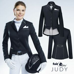 Fair Play Judy Short Tail Dressage Jacket in Black  Size: EU42/UK14/US12